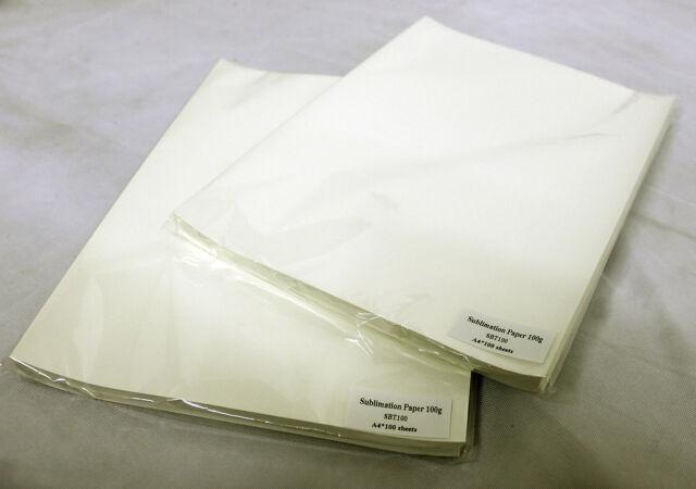 100 x Quality A3 / A4 SUBLIMATION Transfer Paper Heat Press - 100GSM - Mug Press