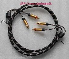 Hige-END 1,5m Stereo Audio Cinchkabel Chinch Stecker RCA Kabel Cinch vergoldet