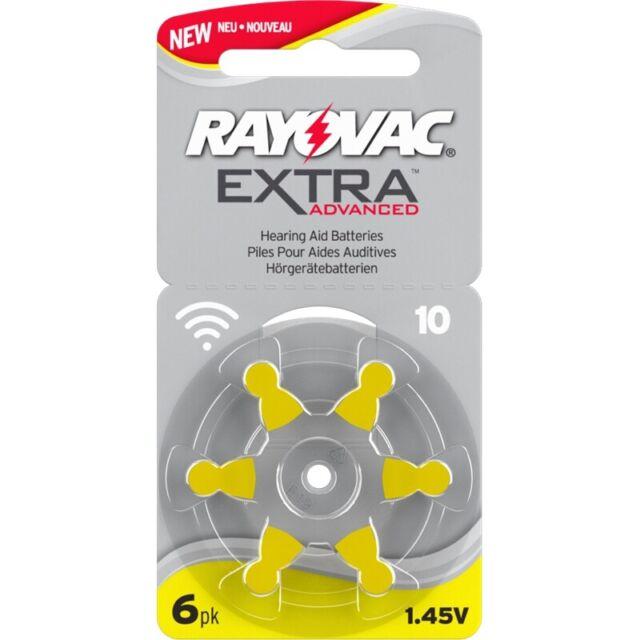 12 x Rayovac Extra Advanced Typ 10 Hörgeräte Batterien 100mAh PR70 P10 D10