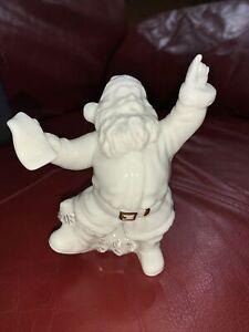 "2000 Distinctively Lefton Santa Claus 4 1/2"" Figurine White Gold"