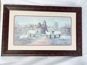 Glynda turley sheep geese garden gate 1988 signed number for Glynda turley painting