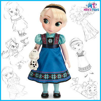 "Disney Frozen Toddler Elsa 16"" Animators' Collection Doll brand new in box"
