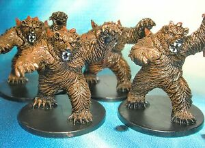Dungeons-amp-Dragons-Miniatures-Lot-Dire-Bear-Malmer-x4-s116