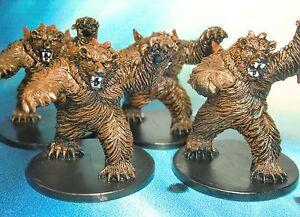Dungeons-amp-Dragons-Miniatures-Lot-Dire-Bear-Mauler-x4-s116