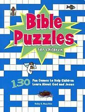 Bible Puzzles for Children : 130 Fun Games to Help Children Learn about God and