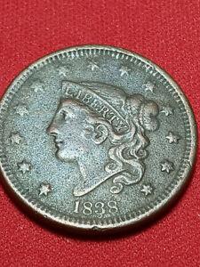 100% Pure high grade Copper 1838 Coronet Head US Coin