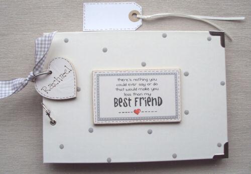 PERSONALISED. BEST FRIEND..A5 SIZE  PHOTO ALBUM//SCRAPBOOK//MEMORY BOOK.