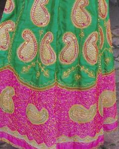 BOLLYWOOD-DANCE-SKIRT-with-sequins-INDIA-DRESS-Ghagra-Chaniya-Choli