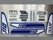 Honda ATC 110 Stickers Set Warning Advice For Vintage Trike 1981 Sticker