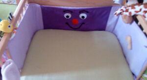 Details zu Nestchen groß Unikat Schmetterling Babybett Gitterbett  Beistellbett Kinderbett