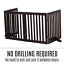 thumbnail 5 - Pet Gate Step Over Dog Gate Freestanding Assembly-Free Puppy Foldable Fence New