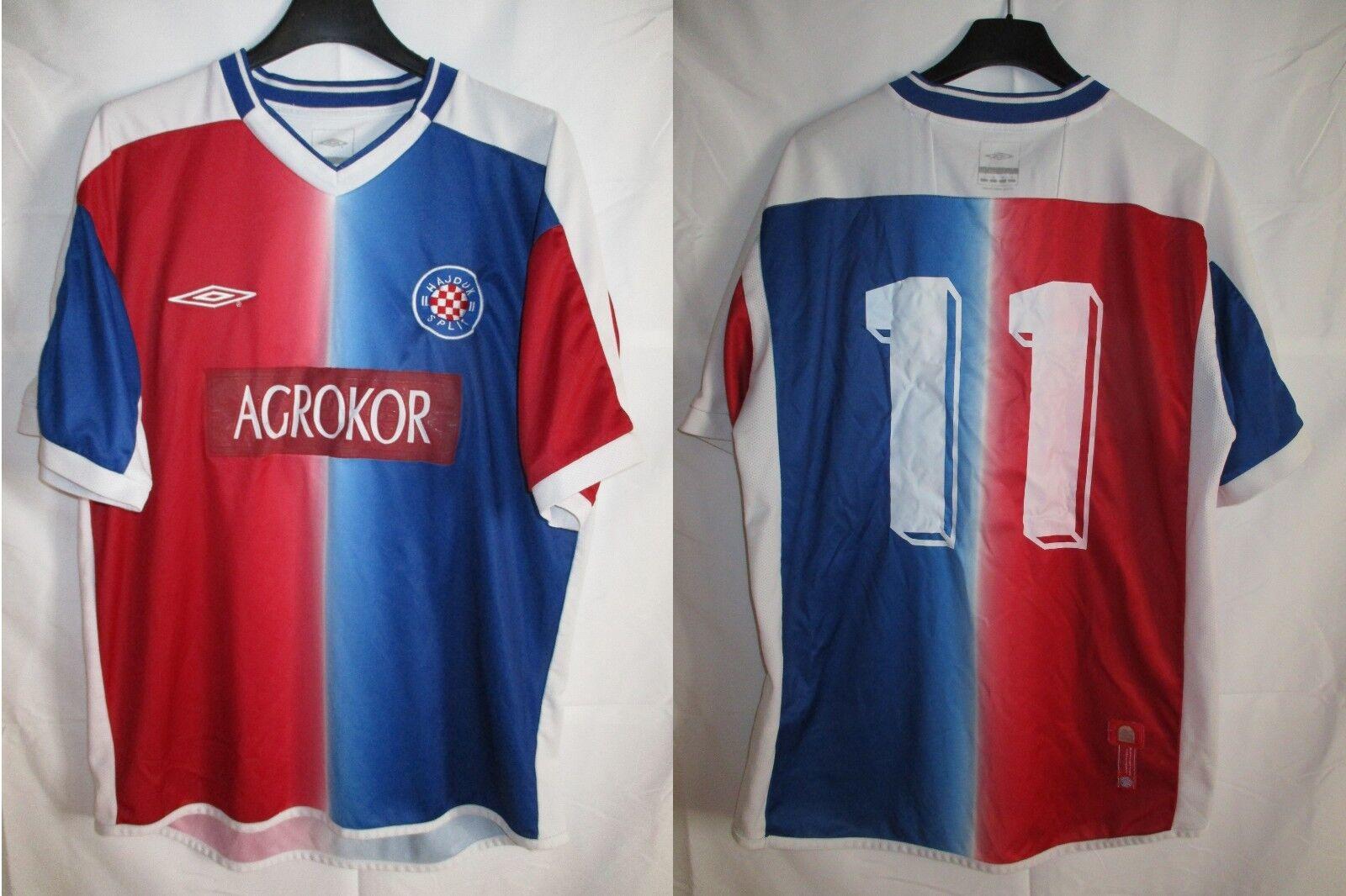 Maillot HAJDUK SPLIT n°11 vintage UMBRO shirt trikot maglia jersey 2004 2006 M