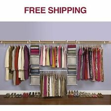 Rubbermaid Expandable Closet Adjustable Organizer Shelves Cubbies Clothes