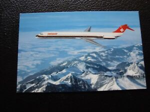 Suizo-Tarjeta-Postal-Swissair-B10-Suiza
