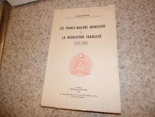 1958.Francs-maçons manceaux et révolution française.Bouton