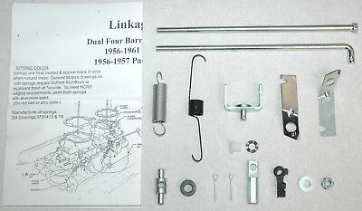 1956 61 BRASS BOWL VENTS CARTER WCFB DUAL QUAD CORVETTE /& CHEVY 2 PC