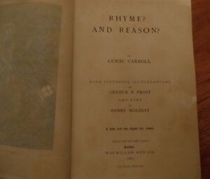 Super-1883-1st-Edition-Lewis-Carroll-Rhyme-and-Reason
