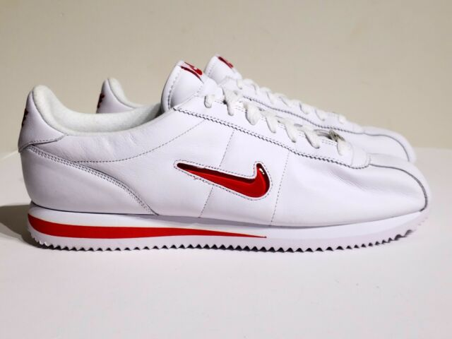 large discount new high usa cheap sale Nike Cortez Basic Jewel QS TZ White University Red Shoes 938343-100 Size  10.5
