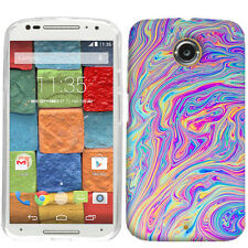For Motorola Moto X 2nd Generation Swirl Paint Case Skin Cover