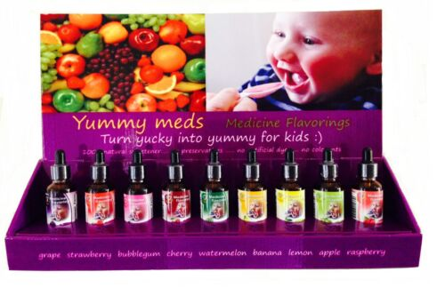 Natural Fruit Flavor Sweet Drops Baby Kids Vitamins PolyViSol Zantac YUMMY MEDS