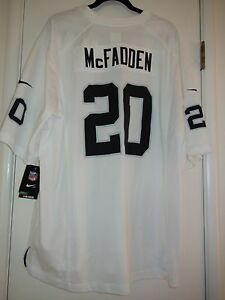 premium selection 1d59f fb618 Details about NIKE 479397 ON FIELD NFL OAKLAND RAIDERS FOOTBALL GAME JERSEY  McFADDEN NWT M 2XL