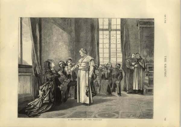 1873 Réception Au Vatican Clair Et Distinctif