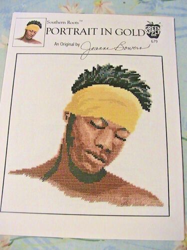 SOUTHERN ROOTS PORTRAIT IN GOLD BLACK MAN~2001~*RARE /& OOP~cross stitch graphs