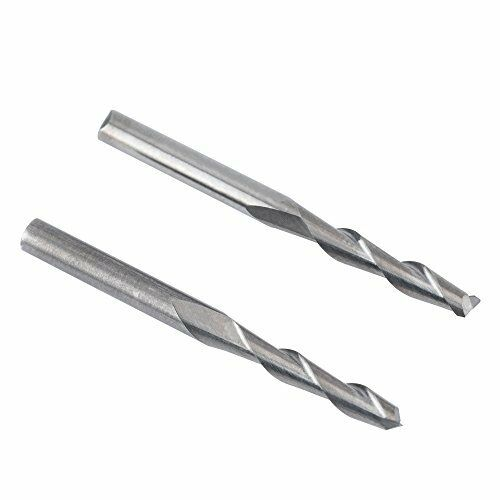 17mm 1//8 Shank Carbide Flat Nose End Mill Cutter CNC Router Bits Double Flute