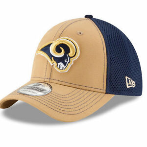 Los-Angeles-Rams-New-Era-39THIRTY-NFL-Neo-Men-039-s-Flex-Fitted-Cap-Hat-Size-M-L