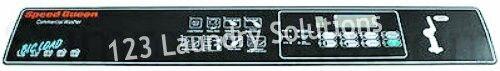 SpeedQueen #F231525-1 SC50 NCP Single Coin Control Decal D