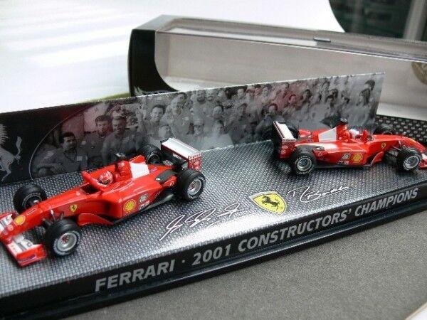 1 43 Hot Wheels 2er Set Ferrari 2001 Constructors Champions 55602
