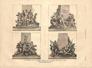 Monument Elevé au Général Alfred Chanzy Armée de la Loire de Croisy GRAVURE 1885 - France - MONUMENT BRED TO GENERAL ALFRED CHANZY ARMY OF THE LOIRE DE CROISY France ANTIQUE PRINTGRAVURE 100 % DÉPOQUE 1885 PORT GRATUIT EUROPE A PARTIR DE 4 OBJETS BUY 4 ITEMS AND EUROPE SHIPPING IS FREE Il s'agit d'un fragment de page originale avec tex - France