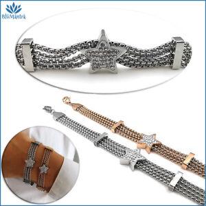 Bracciale-da-donna-multifilo-con-stella-stellina-in-acciaio-inox-braccialetto-a
