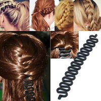 COOL New French Hair Braid Tool Magic Twist Styling Bun Maker Holder Clip Roller