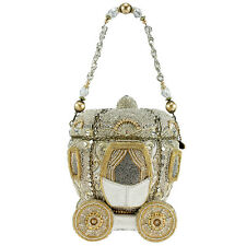 MARY FRANCES Before Midnight Gold Carriage Fairy Bag Handbag Purse Beaded NEW