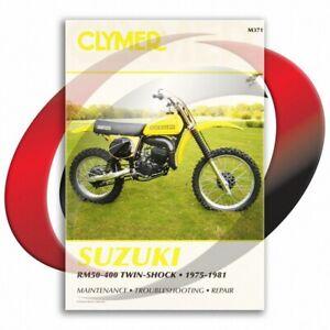 1976-1977-Suzuki-RM370-Repair-Manual-Clymer-M371-Service-Shop-Garage