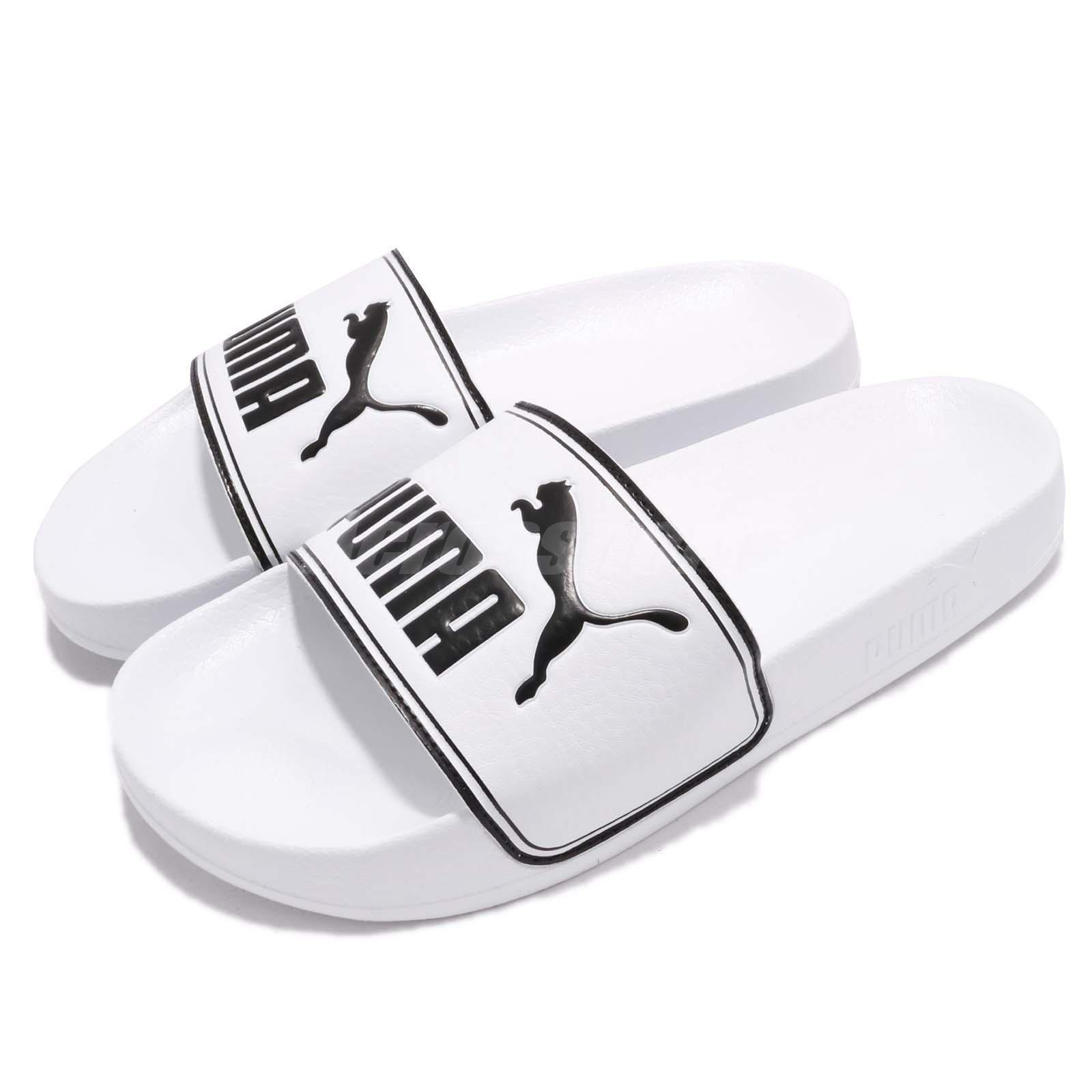Puma Leadcat Sandal Big Logo Blanco Negro Hombre Sandal Leadcat Slippers Slides 36026308 982a95