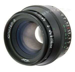 JUPITER-8-50mm-Objektive-Lens-M39-Zorki-FED-Leica-35mm-RF-camera-KMZ-sonnar-blac