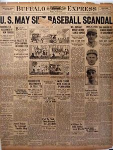 1924-Vintage-Newspaper-Baseball-Bribe-Scandal-Jimmy-O-039-Connell-Giants-Pedro-Zanni