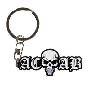 Metallanhänger Schlüsselanhänger Totenkopf Acab