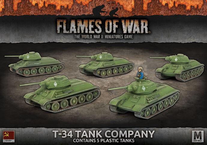 T-34 TANK COMPANY - FLAMES OF WAR - SBX54