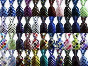 New-ClassicTies-Polka-Dot-JACQUARD-WOVEN-100-Silk-Men-039-s-Tie-Necktie