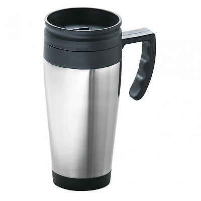 INSULATED THERMAL TRAVEL COFFEE FLASK MUG REMOVABLE LID KEEP DRINK WARM NEW P&P