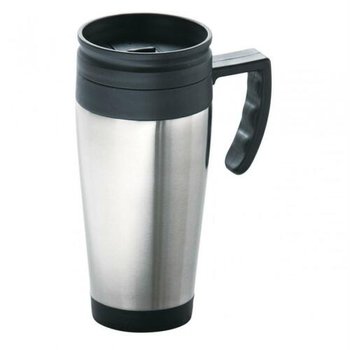 INSULATED THERMAL TRAVEL COFFEE FLASK MUG REMOVABLE LID KEEP DRINK WARM NEW P/&P