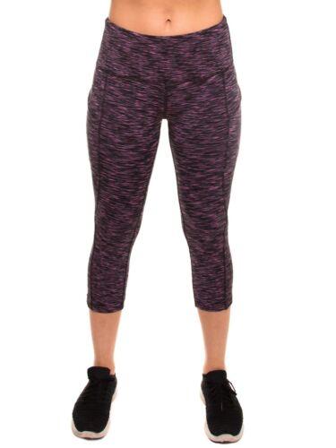 Women's High Waist Tummy Control Workout Yoga Pants Side Pockets LL5