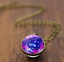 Solar-System-Pendants-Necklace-Galaxy-Planet-Necklace-S-Double-Sided-Glass-Dome thumbnail 7