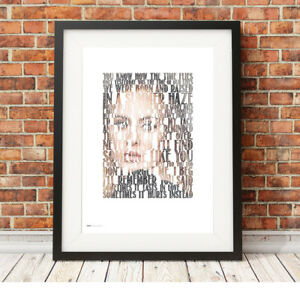 Details about ADELE ❤ Someone Like You ❤ song lyric poster ART Limited  Edition Print #2