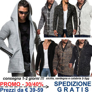 4e8d7e32fb5a11 Giacca in Maglia Grossa Uomo Maglione Cardigan di Lana Pesante ...
