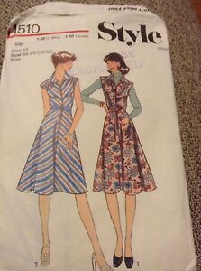 Womens  Ladies Vintage Dress Style Sewing Pattern Size 10 - <span itemprop=availableAtOrFrom>Exeter, United Kingdom</span> - Womens  Ladies Vintage Dress Style Sewing Pattern Size 10 - Exeter, United Kingdom
