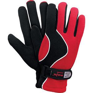 Stetig Winterhandschuhe Handschuhe Super Warm Fleecestoff Rot Schwarz Gr. 8 Neu Top Hohe QualitäT Und Geringer Aufwand